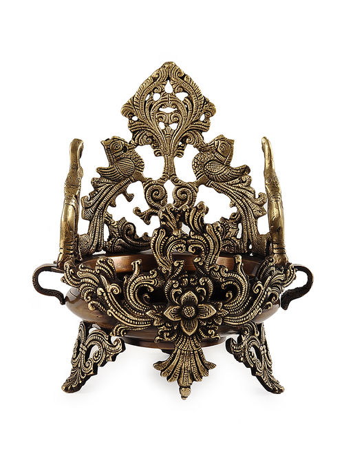 Buy Brass Ornate Urli Dia76in W76in H11in Online  : twihoj000253417 11 from www.jaypore.com size 500 x 662 jpeg 79kB