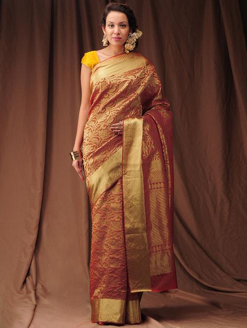 Buy Red Zari Kanjivaram Silk Saree Online At Jaypore Com
