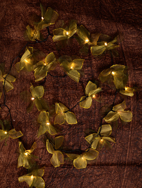 Green Flower String Lights : Buy Golden-Green Double Flower String Light Online at Jaypore.com