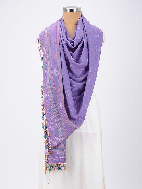 f24b6dc091 Buy Purple Dhulki Design Wool Shawl With Tassels Online at Jaypore ...