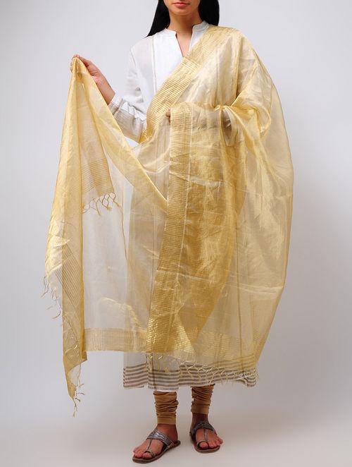 Buy Leno Weave Tissue Brocade Dupatta Online At Jaypore Com