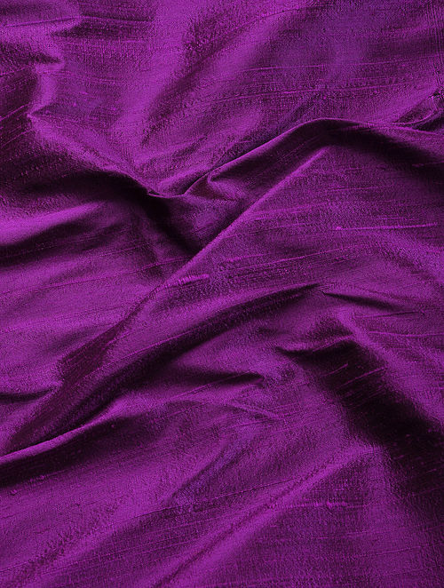 Buy Purple Raw Silk Fabric Online At Jaypore Com