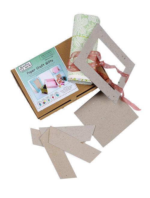 Buy Paper Craft Diy Kit With Picture Frame And Handmade Papers
