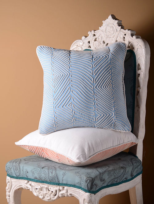 Light Contour Blue Cushion Cover  16in x 16in
