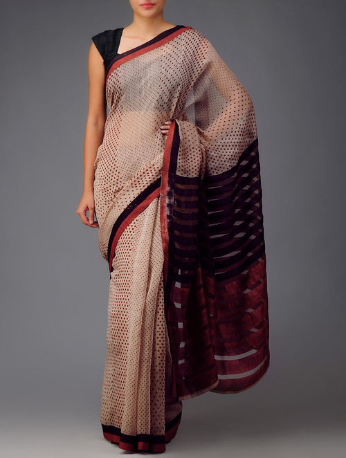 Bagh Print Cotton-Silk Saree