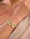 Green Gold Tone Pearl Beaded Kundan Bracelet