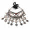 Tribal Silver Necklace  With Gemstone