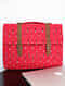 Red Handcrafted Ikat Cork Leather Laptop Bag