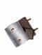 Grey Handcrafted Ikat Cork Leather Ipad Sleeve