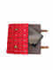 Red Handcrafted Ikat Cork Leather Ipad Sleeve