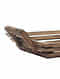 Brown Arohi Mango Wood Tray (L -16in ,W- 10in ,H -4in)