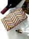 Multicolored Handcrafted Sequinned Silk Clutch