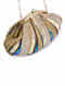 Gold Blue Handcrafted Sequinned Silk Clutch