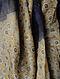 Beige-Blue Ajrakh Printed Bandhani Tussar Silk Saree
