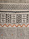 Maze Black-Multicolor Block Printed Cotton Dhurrie with Recycled Silk Embroidery (60in x 36in)