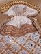 Off White Handcrafted Dupion Silk Potli
