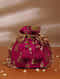 Pink Handcrafted Brocade Potli