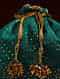 Green Handcrafted Mukaish Work Shantoon Silk Potli