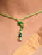 Green Aventurine Beaded Tribal Silver Choker Necklace