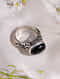 Black Onyx Sterling Silver Ring (Size: 17.5)