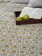 Mustard Handblock Printed Cotton Double Bedcover (108in x 94in)