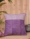 Purple Handblock Printed Cotton Cushion Cover (15.5in x 15.5in)