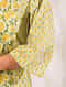 BEL - Yellow-Green Block Printed Cotton Kurta