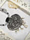 Black Coin Silver Bugti Necklace with Pearls