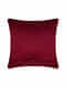 Maroon Handwoven Cotton Chanderi Cushion Cover (16in x 16in)