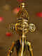 Ganesha Handcrafted Antique Gold Dhokra Tabletop Accent (L - 1.7in, W - 2.3in, H - 5in)