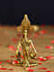 Ganesha Handcrafted Antique Gold Dhokra Tabletop Accent (L - 1.5in, W - 2.5in, H - 5in)