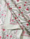 Multicolored Handblock Printed Cotton Double Bedsheet with Pillow Covers (Set of 3)
