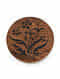 Green Handcrafted Sheesham Wood and Steam Beech Wood Round Box (Dia - 5in, H - 2in)