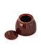 Rust Handmade Ceramic Sugar Pot (Dia - 3.6in, H - 3in)