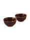 Rust Handmade Ceramic Bowls (Set Of 2) (Dia - 4.2in, H - 2in)