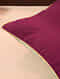 Pink Green Handcrafted Cotton Linen Reversible Cushion Cover (16in x 16in)