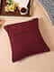 Maroon Velvet Cushion Cover (16inX16in)
