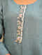 CHAMBAILI - Blue Embroidered Linen Kurta with Bead Work