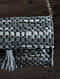 Dark Grey Handcrafted Upcycled Genuine Leather Sling Bag