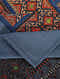 Multicolored Handcrafted Ajrakh Bed Cover (105in X 88in)