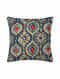 Multicolored Handcrafted Ajrakh Cushion Cover (12in X 12in)