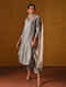 CRESSA - Grey Silk Cotton Kurta with Gota Patti Embroidery