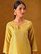 ZAR - Mustard Silk Cotton Kurta with Gota Patti Embroidery