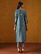PEERAYEH - Teal Blue Silk Cotton Kurta with Gota Patti Embroidery