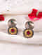 Red Green Dual Tone Tribal Earrings