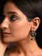 Green Dual Tone Tribal Jhumki Earrings