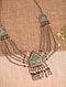 Enameled Vintage Afghan Silver Necklace