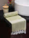 Green Cotton Gamcha Bath Towel (L-59in, W-31in)