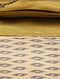 Cream Handcrafted Ikat Cotton Silk Clutch