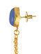 Blue Gold Tone Enameled Earrings